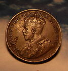 1918 Canada Large Cent Penny Error Coin Lamination Planchet Flaw High Detail