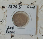 1875 S 20 Cent Piece Silver Ungraded
