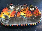 Fitz And Floyd Beautiful Large Kitty Witches Platter