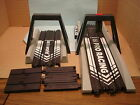 AUTO WORLD H.O SCALE DRAGSTRIP START GATE/TERMINAL TRACK AND END GATE W/END PCS