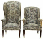 PAIR OF 19TH CENTURY HIS AND HERS WINGBACK ARMCHAIRS