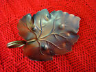 Vintage Coppercraft Guild Copper Leaf Shaped Candy Dish Tray Made in USA 381415