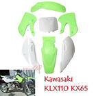 Plastic Fender Fairing Set For Kawasaki KLX 110 KX65 110cc Pit Dirt Bike DRZ110