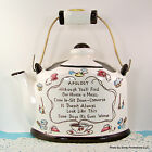 Wall Pocket APOLOGY Our House a Mess Tea Pot VTG Mid Century Floral Planter Vase