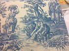 Waverly Country Life Wedgewood Toile Drapery Fabric 100% Cotton 54