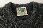 CARRAIG DONN 100% Pure Wool ARAN Cable Knit Fisherman Sweater Large IRELAND Vtg