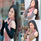 New Long-sleeved Fingerless Gloves Winter Gloves Knitting Knitting Warm Arm