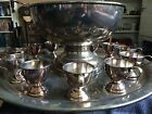 vintage EP Nickel-Silver Punch Bowl with Serving Plate