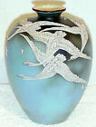 ANTIQUE HAND PAINTED NIPPON (OLD NORITAKE) MORIAGE FLYING SWANS VASE