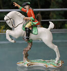 Nymphenburg figure hunting horsemen, red hunting, excellent condition !!