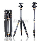 Pro Portable Carbon Fiber Tripod Monopod Q777C+ Ball Head travel max load 8-15KG