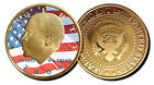 BARACK OBAMA J-F Kennedy 24 KT GOLD CLAD PROOF COIN 44 . president  J.F HALF
