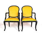 Serge Roche Hollywood Regency Draper Yellow Dining Chairs Set