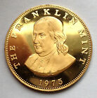 L45 USA 1975 Franklin Mint ~ Benjamin Franklin UNC PROOF BRONZE MEDAL//COIN