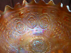 circa 1921 FENTON CARNIVAL GLASS GRAPE & CABLE FRUIT BOWL W/ PERSIAN MEDALLION