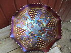 NORTHWOOD CARNIVAL GLASS STIPPLED GRAPE & CABLE VARIANT PATTERN 10 inch BOWL
