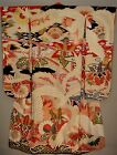Superb Antique Japanese Embroidered Yuzen Painted Silk Furisode Bride's Kimono