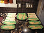 11 PIECE VINTAGE PORCELAIN CORN ON THE COB DISH SET JAPAN