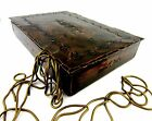 ARTS & CRAFT OLD BEAUTIFUL HAMMERED IRONWORK METAL BOX