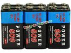 6pcs Durable 9V 9 Volt 600mAh Power Ni-Mh Rechargeable Battery Cell PPS block