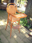 VTG AUSTRIAN J&J KOHN THONET STYLE CHILDS BENTWOOD CANED SEAT & BACK HIGHCHAIR