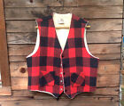 Classic Red & Black Plaid Hunting Vest - Narragansett of Woonsocket - USA
