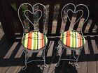 Pair of 1950's Iron Vintage Antique Ice Cream Parlor chairs Completely Restored