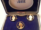 Vintage Swank Genuine US Coins Indian Head Penny cuff links & Tie Tac Set NIB