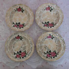FOUR VINTAGE RETRO MIDWINTER STYLECRAFT GOLD PINK ROSES CHINTZ BOWLS 1962