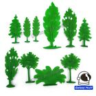Toy Soldiers Diorama Plastic Trees Pines Fern Shrubbery Brushes 10 Piece Set