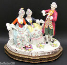 Antique Dresden Hand Painted Porcelain Musical Figurine Ladies and Gentleman