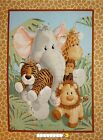 JUNGLE BABIES Nursery Quilt Panel or Wall Hanging Cotton Fabric  43