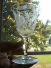 ABP INTAGLIO CUT ENGRAVED GLASS CRYSTAL WINE STEMWARE SIGNED LIBBEY,EXCOND.NR!