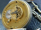 ANTIQUE ABRAHAM LOUIS BREGUET 1790'S SILVER  VERGE FUSEE POCKET WATCH
