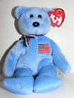 TY Beanie Baby AMERICA the Bear 2001 Tribute to 9/11 & Red Cross MWMT