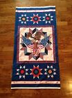 A PATRIOTIC LET FREEDOM RING WITH FLAG & BALD EAGLE AMERICAN VALOR FABRIC PANEL