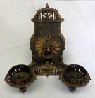 Antique Gold Gild Solid Cast Iron Wall Sconce/Candle Holder/Gothic Home Decor