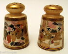 Hand Painted Antique Meiji Period Satsuma Pair Salt & Pepper Shaker 1868-1912