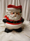 Fitz and Floyd Holiday Decor Christmas Jolly Santa Claus Drink Handled Pitcher