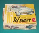 1957 Chevy Bel Air Hardtop Vintage AMT 1/16 Complete But AWFUL Box.