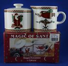 Sakura Debbie Mumm MAGIC OF SANTA Sugar & Creamer Santa Weathervane Christmas