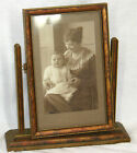 Antique Standing Picture Frame wood freestanding swivel Art Deco 1920s-30s photo