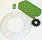 KAWASAKI 1991-1994 KDX250 / 1992-97 KX250 250 GREEN CHAIN & SPROCKET 13/50 114L