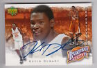 2007 08 UPPER DECK KEVIN DURANT BASKETBALL HEROES ROOKIE AUTOGRAPH RC AUTO 4 5