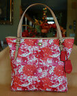 NEW COACH Peyton Floral Zip Top Tote  Pink/Red/Orange 31342  MSRP $328 NWT NICE!