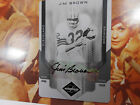 Jim Brown 1 1 autographed factory print printing PLATE auto LEAF LIMITED signed