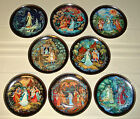 Anatolyi Kamorin Beautiful Russian LEGEND Of THE SNOWMAIDEN Plate SET Bxs+COAS