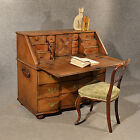 Antique Oak Bureau Writing Study Desk Fine Quality Serpentine Front c1800