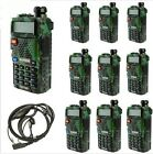 10pcs Camouflage BAOFENG UV-5R  Two Way Radio 4wattes Radio Walkie Talkie UV5R