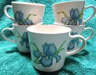 5 Corning Corelle Cornerstone Iris Coffee Cups Mugs Blue Iris flower 3